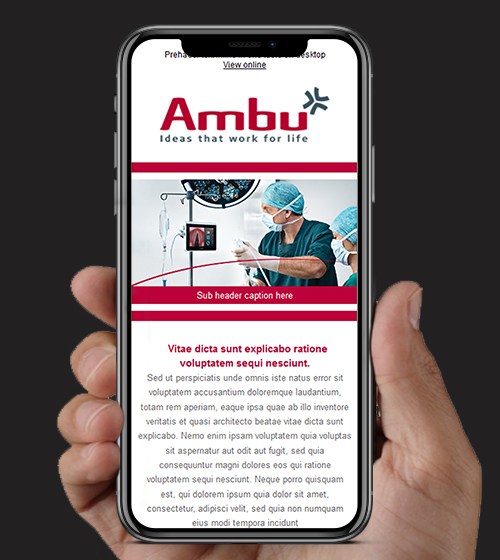 Ambu Care Shop HTML Email | BJ Creative Email Design | Stamford