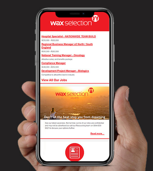 Wax Selection HTML Email | BJ Creative Email Design | Stamford