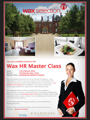 Wax Selection Poster | BJ Creative Stamford Poster Design