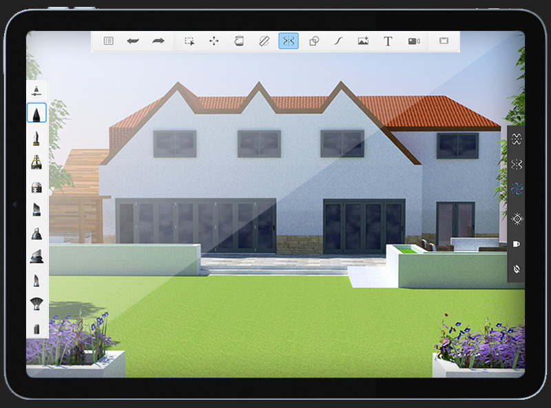 Garden Design SketchUp Render by BJ Creative 3D Design Stamford