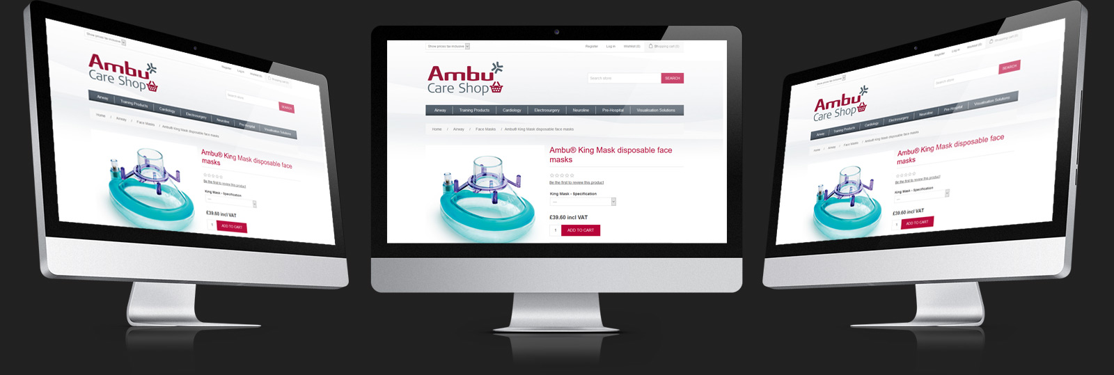 St Ives Web Design - Ambu Care Shop