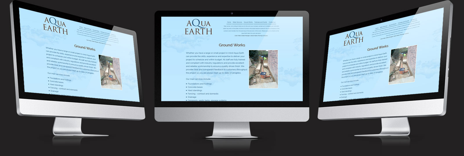 Stamford Web Design - Aqua Earth