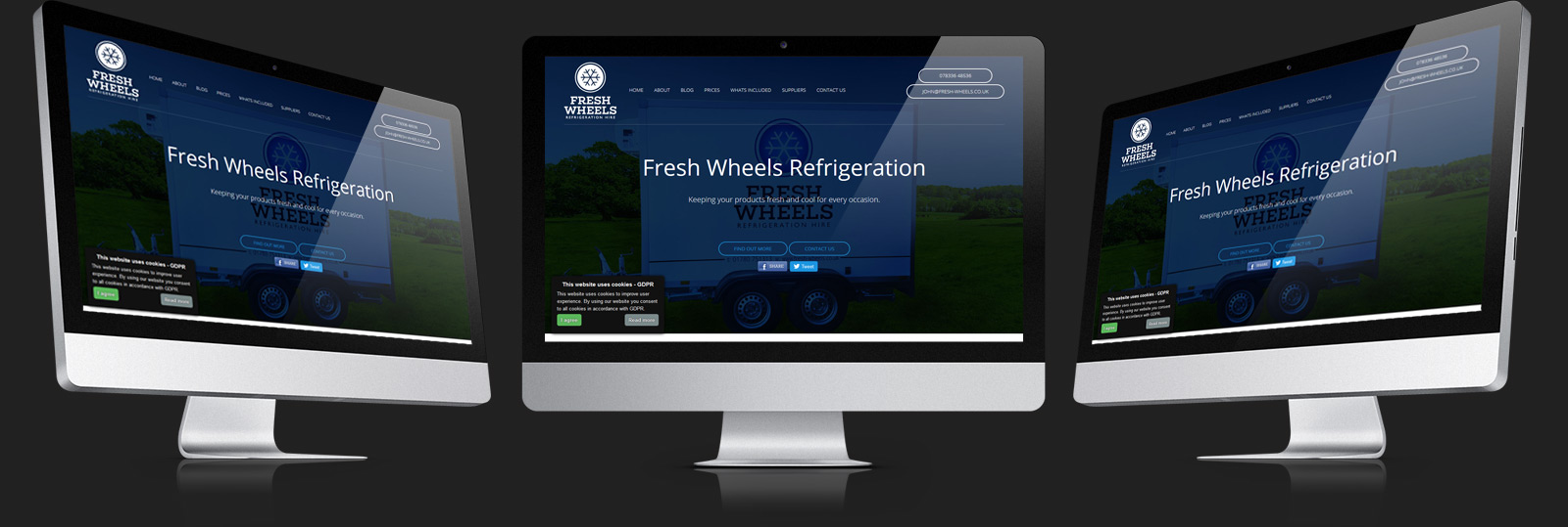 Stamford Web Design - Fresh Wheels Refrigeration