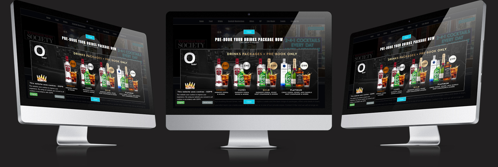 Stamford Web Design - O Bar Brum