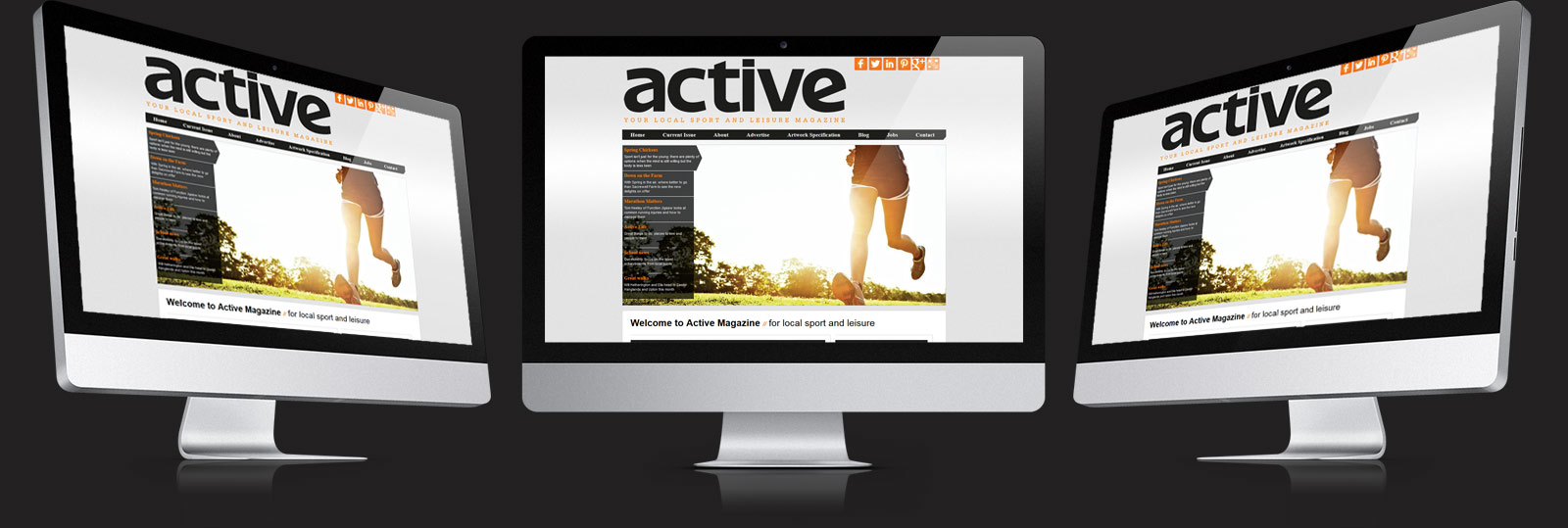 Stamford Web Design - The Active Magazine