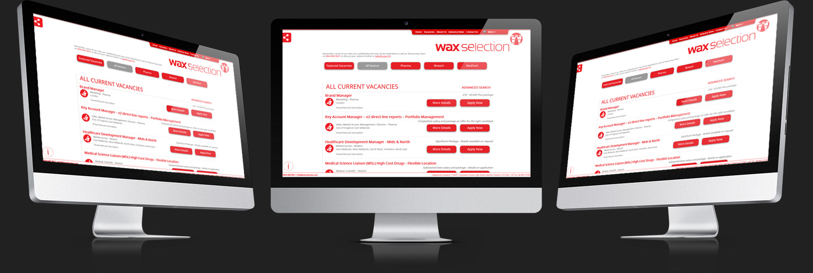Stamford Web Design - Wax Selection